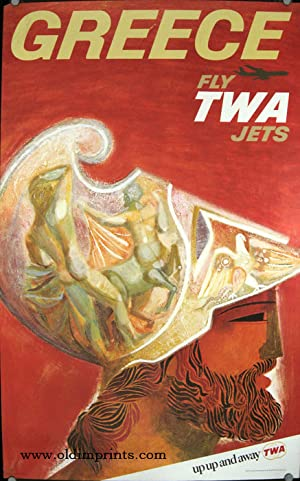 Greece. Fly TWA Jets. up up and away TWA.