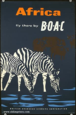 Africa. Fly there by BOAC. British Overseas Airways Corporation.