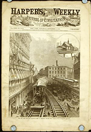 Harper's Weekly. COMPLETE ISSUE, including front cover: ELEVATED RAILROAD) Davis,