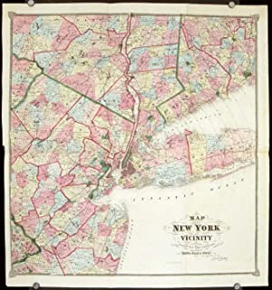 Map of New York and Vicinity. [ca. 1867]