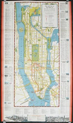 New York City Travel Guide. Map title: Into and Out of the Heart of New York and Brooklyn.