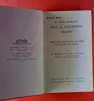 Pro A. Cluentio Oratio.: W. Peterson