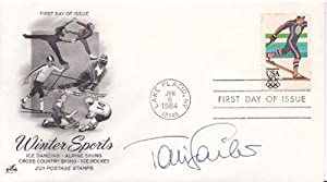 FIRST DAY COVER SIGNED BY AUSTRIAN ALPINE SKI RACER AND GOLD MEDAL-WINNER TONI SAILER.: Sailer, ...