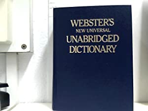 WEBSTER S NEW UNIVERSAL UNABRIDGED DICTIONARY.