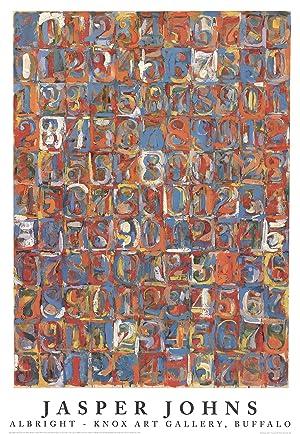 "JASPER JOHNS Numbers in Color 39.5"" x: Johns, Jasper"