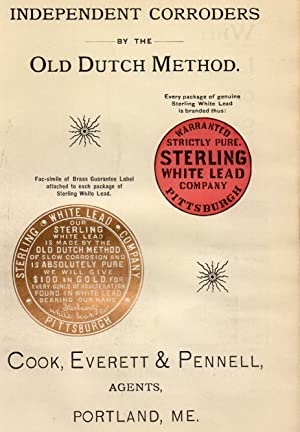 An Original 1896 Illustrated Advertisement for the Sterling White Lead Company Pittsburgh: Sterling...