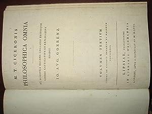 M.T.CICERONIS DE FINIBUS BONORUM ET MALORUM. Libri V. Ex Scriptis recens collatis editisque libris ...
