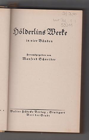 Bild des Verkäufers für Hölderlins Werke. Bd. 1: Hyperion. Frühe Gedichte. zum Verkauf von Allgäuer Online Antiquariat