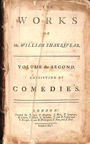 The Works of Mr William Shakespear [Shakespeare]: William Shakespeare