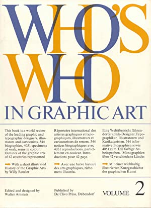 Who's Who in Graphic Art. Band 2.: Amstutz, Walter (Hrsg.):