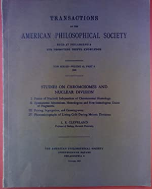 Transactions of the American Philosophical Society. New Series - Volume 43, Part 3, 1953. Studies ...