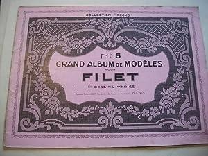 Grand album de modeles por filet. 136 dessins varies. No. 5.
