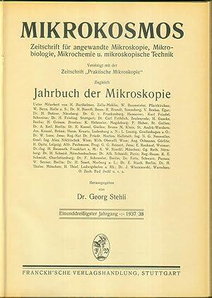 Zeitschrift für angewandte Mikroskopie, Mikrobiologie, Mikrochemie und mikroskopische Technik. Band...