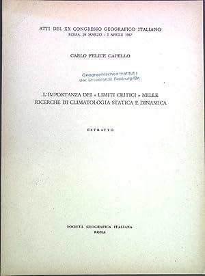 """L'importanza dei """"limiti critici"""" nelle recerche di: Capello, Carlo Felice:"""
