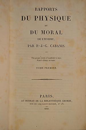 Rapports du physique et du moral de l'homme.: CABANIS, Pierre Jean Georges;