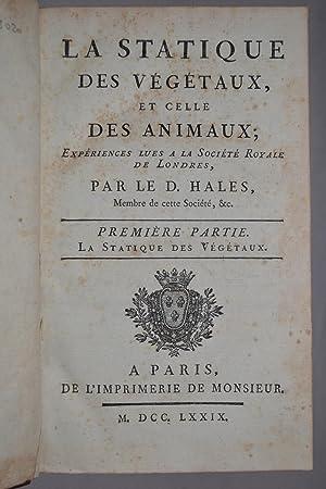 La Statique des végétaux et l'analyse de l'air, traduit de l'anglais par M. de Buffon.:...