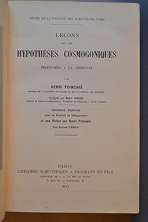 Leçons sur les hypothèses cosmogoniques professées à la Sorbonne.: POINCARE, Henri;