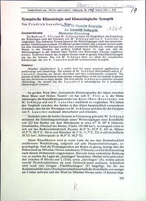 Bild des Verkäufers für Synoptische Klimatologie und klimatologische Synoptik; zum Verkauf von Petra Gros