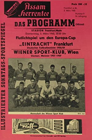 Prg. Eintracht Frankfurt - Wiener Sport-Klub 03.03.60,