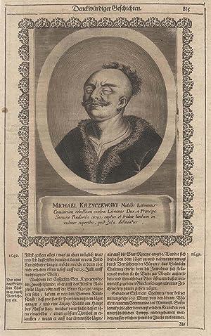 Michael Krzyczewski (um 1650). Kosakengeneral. Kämpfte u.a. gegen Janusz Radziwill,.: KRZYCZEWSKI, ...