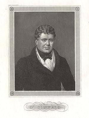 Daniel O'Connell (Irland 06. 09. 1775 - 15. 05. 1847 Genua). Irischer Politiker. Brustbild.: O ...