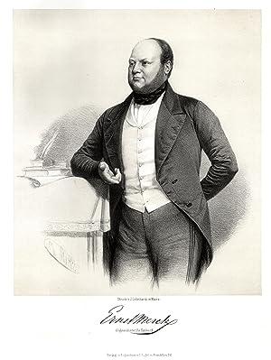 Hamburg 20. 11. 1811 - 06. 07. 1863 Hamburg). Politiker. Hüftbild,.: MERCK, Ernst Freiherr von (...