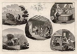 "Le Bled et le Pain"", Darstellungen auf 1 Blatt.: BÄCKER:"