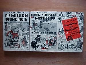 3 Bände Leinen gebunden mit farbigem Schutzumschlag: Mark Twain (Samuel