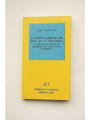La popularidad de Don Juan Tenorio, y: ALBERICH, José