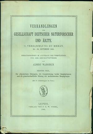 Verhandlungen der Gesellschaft deutscher Naturforscher und Ärzte. 77. Versammlung zu Meran. 24.-30....