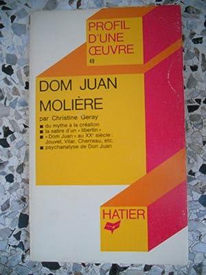 Image du vendeur pour Dom Juan - Profil d'une oeuvre par Christine Geray mis en vente par Frederic Delbos