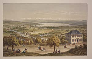 Ansicht von Zürich, von der Waid aus: Zürich - (Anonym).