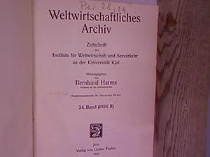 Weltwirtschaftliches Archiv. Zeitschrift des Instituts für Weltwirtschaft und Seeverkehr an der ...
