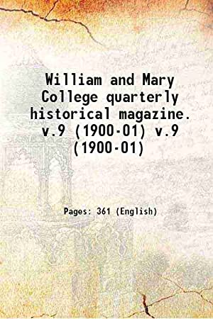 William and Mary College quarterly historical magazine.: Anonymous