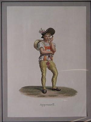 """Appenzell(""""). Junger Bauer mit kleinem Melkkübel.: Lory, Gabriel II (fils):"""