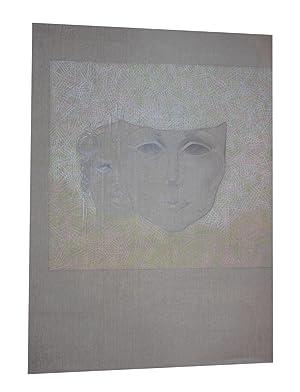 Dessin Femme Masque oeuvre originale: Christian Le Moult