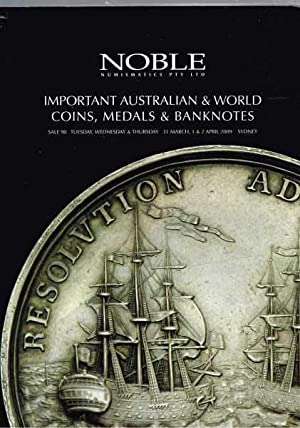 Important Australian & World Coins, Medals & Banknotes: Sale 90 Tues, Weds, Thurs 31 March 1 & 2 ...