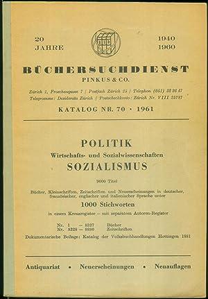 Politik - Wirtschafts- und Sozialwissenschaften - Sozialismus. 9000 Titel: Bücher, Kleinschriften, ...