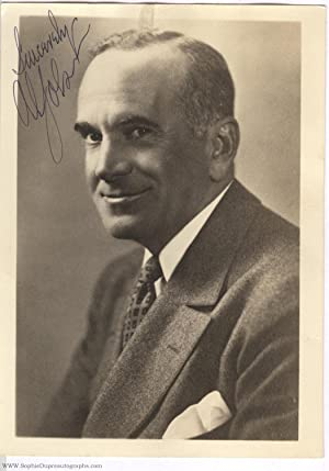Fine photograph signed and inscribed (Al, 1886-1950, American singer, film actor, and comedian)