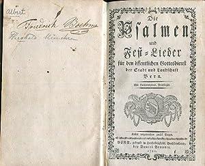 Die Psalmen und Fest-Lieder für den öffentlichen