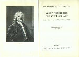 Kurze Geschichte der Wissenschaft in ihren Beziehungen zu Philosophie und Religion. Aus dem ...