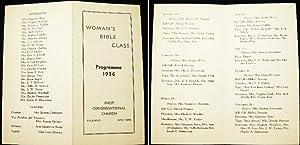Woman's Bible Class Programme 1936 First Congregational Church Riverhead New York: First ...