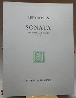 Notenheft : Sonata for Horn in F and Piano Op. 17 : Edited by Max Wolff ;.