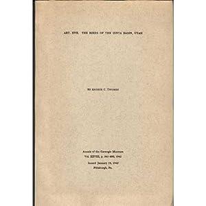 The Birds of the Uinta Basin, Utah.: Twomey, Arthur C.