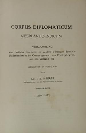 CORPUS DIPLOMATICUM NEERLANDO-INDICUM. Verzameling van politieke contracten