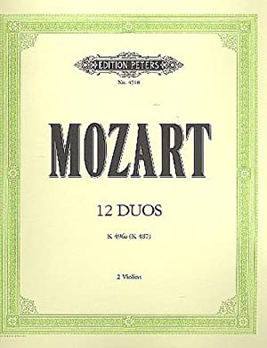 12 Duos KV 487 (496a) : Für: Wolfgang Amadeus Mozart
