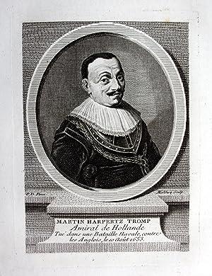 """Martin Harpertz Tromp"""" - Maarten Harpertszoon Tromp (1598-1653) Army general admiral Dutch Navy..."""
