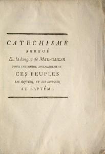Catéchisme abrégé En la langue de Madagascar: CAULIER, Philibe-Albert]