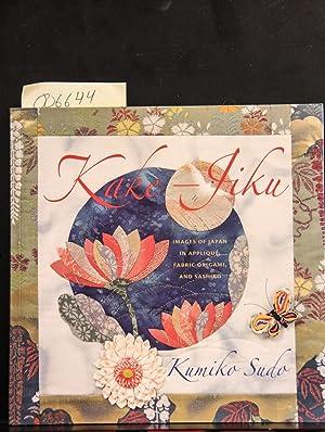 and Sashiko Images of Japan in Appliqué Fabric Origami Kake-Jiku