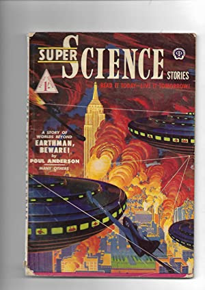 """Super Science Stories. No. 6. BRITISH EDITION. Includes: """"Earthman, Beware!"""" by Poul ..."""